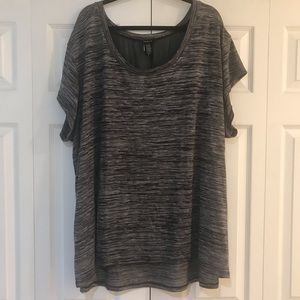 Torrid Tee with Chiffon Back Detail